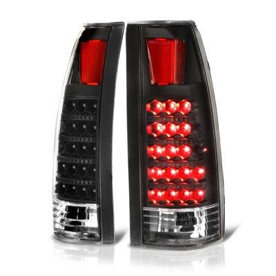 Chevy Suburban 1992-1999 LED Tail Lights Black