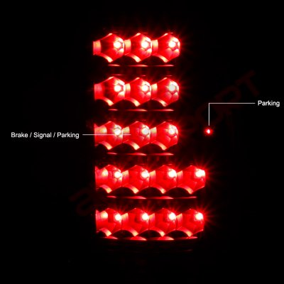 Chevy Tahoe 1995-1999 LED Tail Lights Black