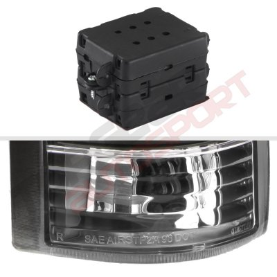 GMC Sierra 1988-1998 LED Tail Lights Black
