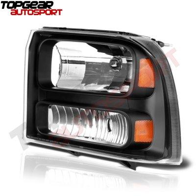 Ford Excursion 1999-2004 Black Headlights
