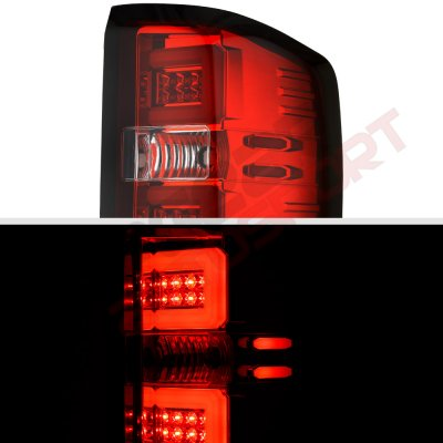 Chevy Silverado 1500 2014-2018 LED Tail Lights Tube Bar