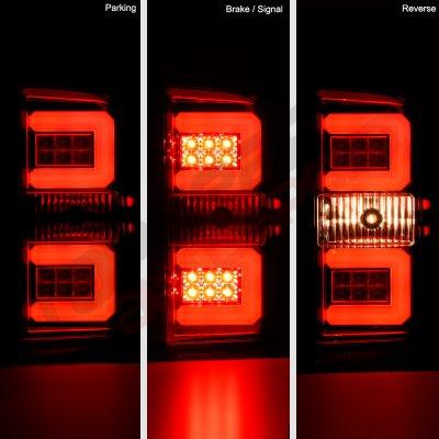 Chevy Silverado 1500 2014-2018 LED Tail Lights Tube Bar
