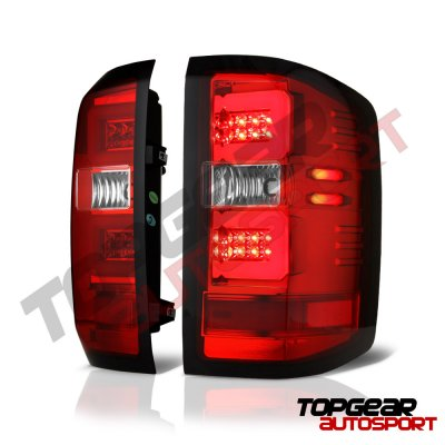 Chevy Silverado 2500HD 2015-2018 LED Tail Lights Tube Bar