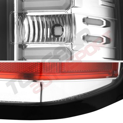 Chevy Silverado 1500 2014-2018 Chrome LED Tail Lights Tube Bar