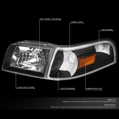 Partslink FO2503222 OE Replacement Headlight MERCURY GRAND MARQUIS 2006-2011 Multiple Manufacturers FO2503222C