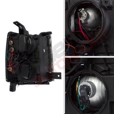 Chevy Silverado 2014-2015 Chrome Projector Headlights LED DRL