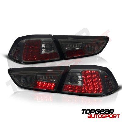 Mitsubishi Lancer Evo X 2008-2015 Smoked LED Tail Lights