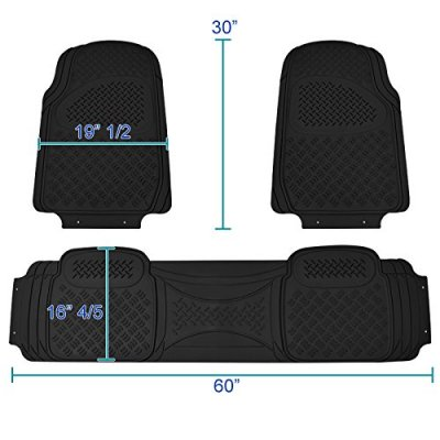 Jeep Wrangler JK 2007-2018 Black Floor Mats