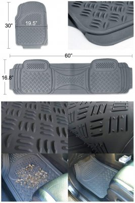 Jeep Wrangler JK 2007-2018 Grey Floor Mats
