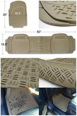 Chevy Traverse 2009-2017 Beige Floor Mats