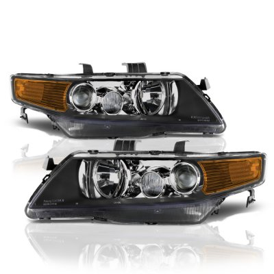 Acura TSX 2004-2005 Black Projector Headlights