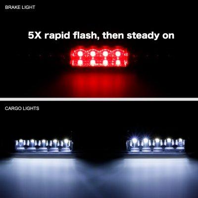 Chevy Silverado 2500HD 2001-2006 Black Flash LED Third Brake Light