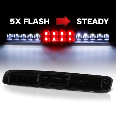 Chevy Silverado 3500 2001-2006 Black Smoked Flash LED Third Brake Light