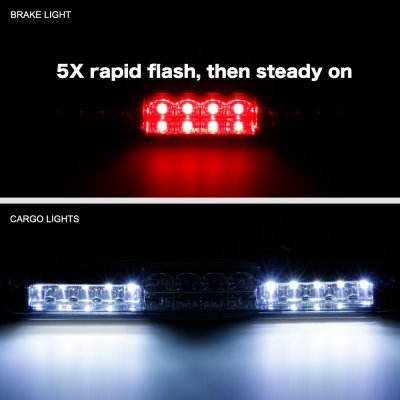 GMC Sierra 1500HD 2001-2006 Smoked Flash LED Third Brake Light