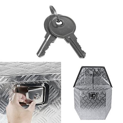 Jeep Wrangler JK 2007-2018 Aluminum Trailer Tongue Tool Box Key Lock