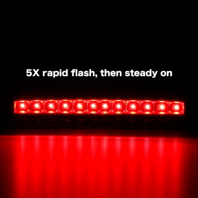 Ford F250 Super Duty 1999-2007 Black Smoked Flash LED Third Brake Light