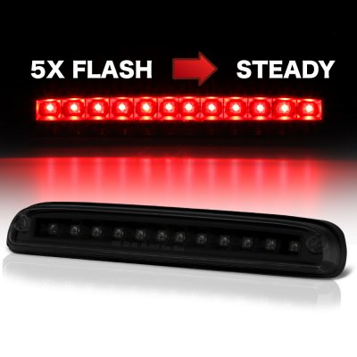 Ford F450 Super Duty 2008-2010 Black Smoked Flash LED Third Brake Light