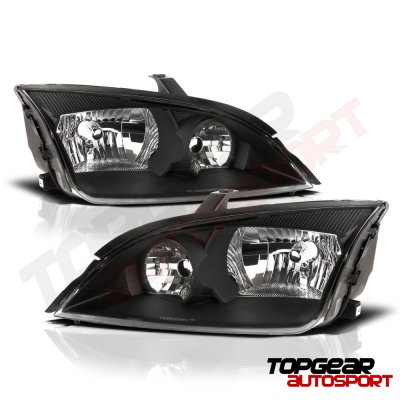 Ford Focus 2005-2007 Black Headlights