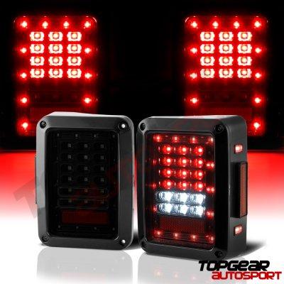 Jeep Wrangler JK 2007-2017 Smoked LED Tail Lights