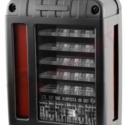 Jeep Wrangler JK 2007-2017 Black LED Tail Lights