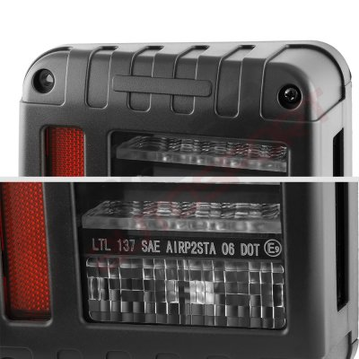 Jeep Wrangler JK 2007-2017 Black LED Tail Lights