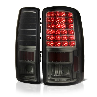 Chevy Suburban 2000-2006 Smoked LED Tail Lights