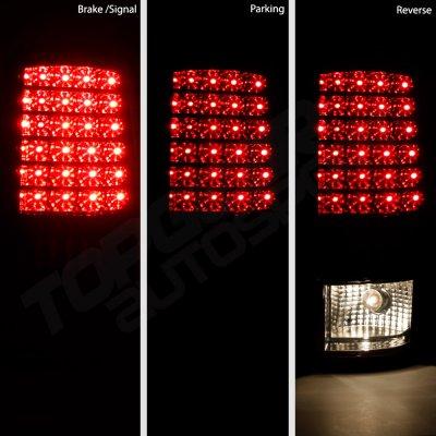 GMC Yukon Denali 2001-2006 Smoked LED Tail Lights