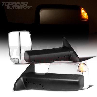 Dodge Ram 1500 2002-2008 Chrome Power Heated Towing Mirrors Signal Lights