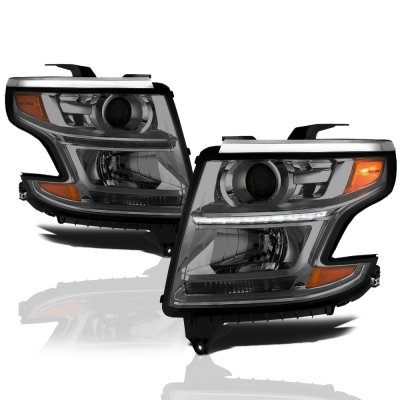 Chevy Tahoe 2017 Smoked Projector Headlights Led Drl A135ux5k101 Topgearautosport