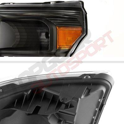 Ford F450 Super Duty 2011-2016 Black Headlights