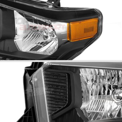 Toyota Tundra 2014-2017 Black Headlights