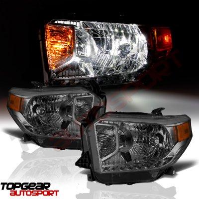 Toyota Tundra 2014-2017 Smoked Headlights