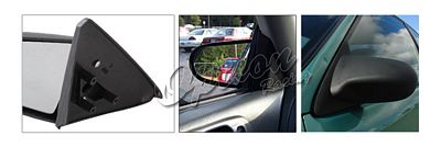 Honda Civic Coupe 1996-2000 Black Spoon Style Manual Side Mirror