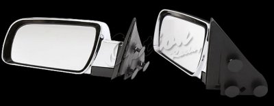 Chevy 2500 Pickup 1988-2000 Chrome Manual Side Mirror