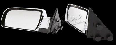 Chevy Suburban 1992-1999 Chrome Manual Side Mirror