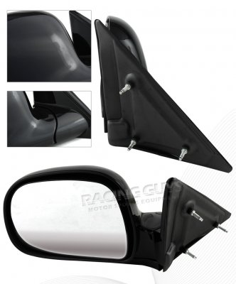 Isuzu Hombre 1996-1998 Black Manual Side Mirror