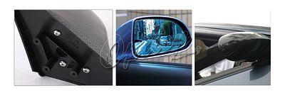 Honda Civic Coupe 1996-2000 Carbon Fiber Cover Spoon Style Blue Len Manual Side Mirror