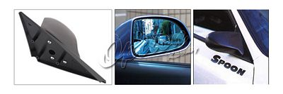 Acura Integra Coupe 1994-2001 Black Spoon Style Blue Len Manual Side Mirror