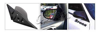 Acura Integra Coupe 1994-2001 Black Spoon Style Manual Side Mirror