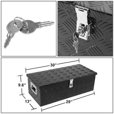 GMC Sierra 1500HD 2001-2006 Black Aluminum Truck Tool Box 30 Inches Key Lock