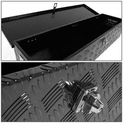GMC Sierra 1999-2006 Black Aluminum Truck Tool Box 39 Inches Key Lock