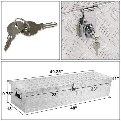 Jeep Wrangler JK 2007-2018 Aluminum Truck Tool Box 48 Inches Key Lock