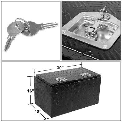 Jeep Wrangler JK 2007-2018 Black Aluminum Truck Tool Box 30 Inches Top Key Lock