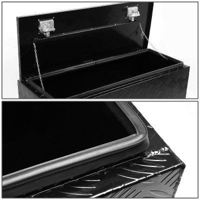Dodge Ram 3500 2010-2018 Black Aluminum Truck Tool Box 36 Inches Key Lock