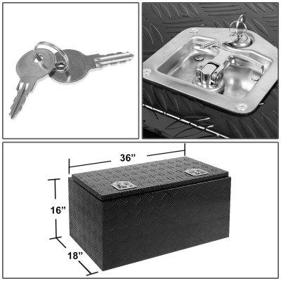 Nissan Titan 2004-2015 Black Aluminum Truck Tool Box 36 Inches Key Lock