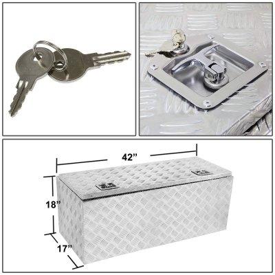 Jeep Wrangler JK 2007-2018 Aluminum Truck Tool Box 42 Inches Key Lock
