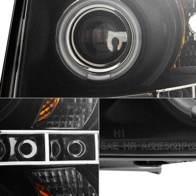 Chevy Silverado 2500HD 2007-2014 Black Smoked CCFL Halo Projector Headlights