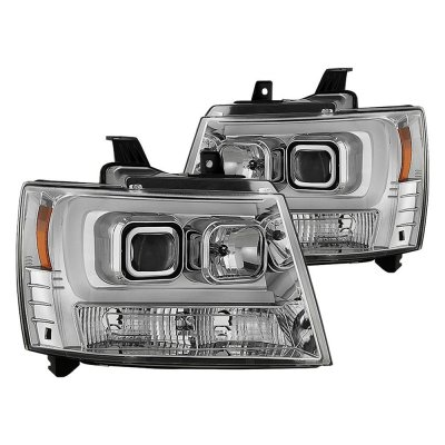 Chevy Suburban 2007-2014 LED Tube DRL Projector Headlights