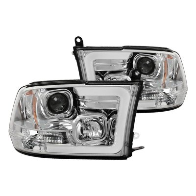 Dodge Ram 2009-2018 LED Tube DRL Projector Headlights