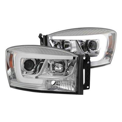 Dodge Ram 2006-2008 LED Tube DRL Projector Headlights